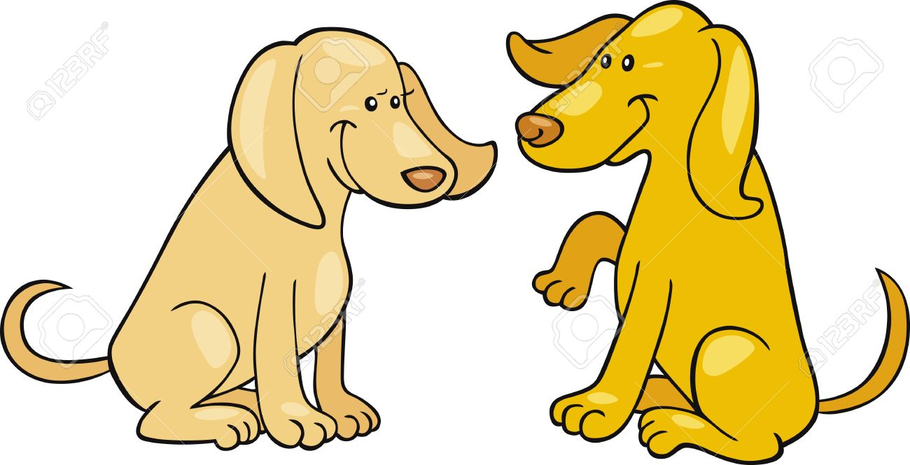 2 Dogs Clipart.