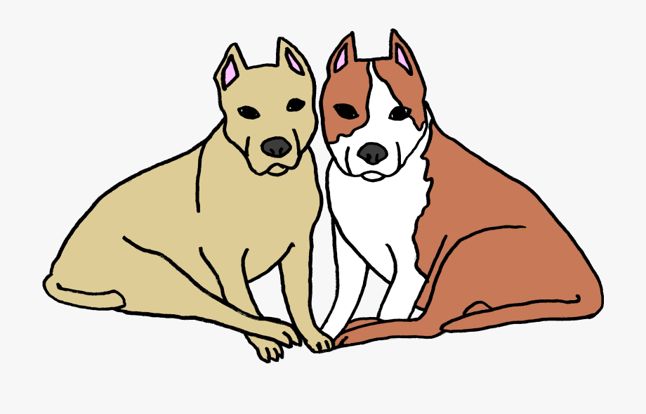 Two Dogs Clipart.