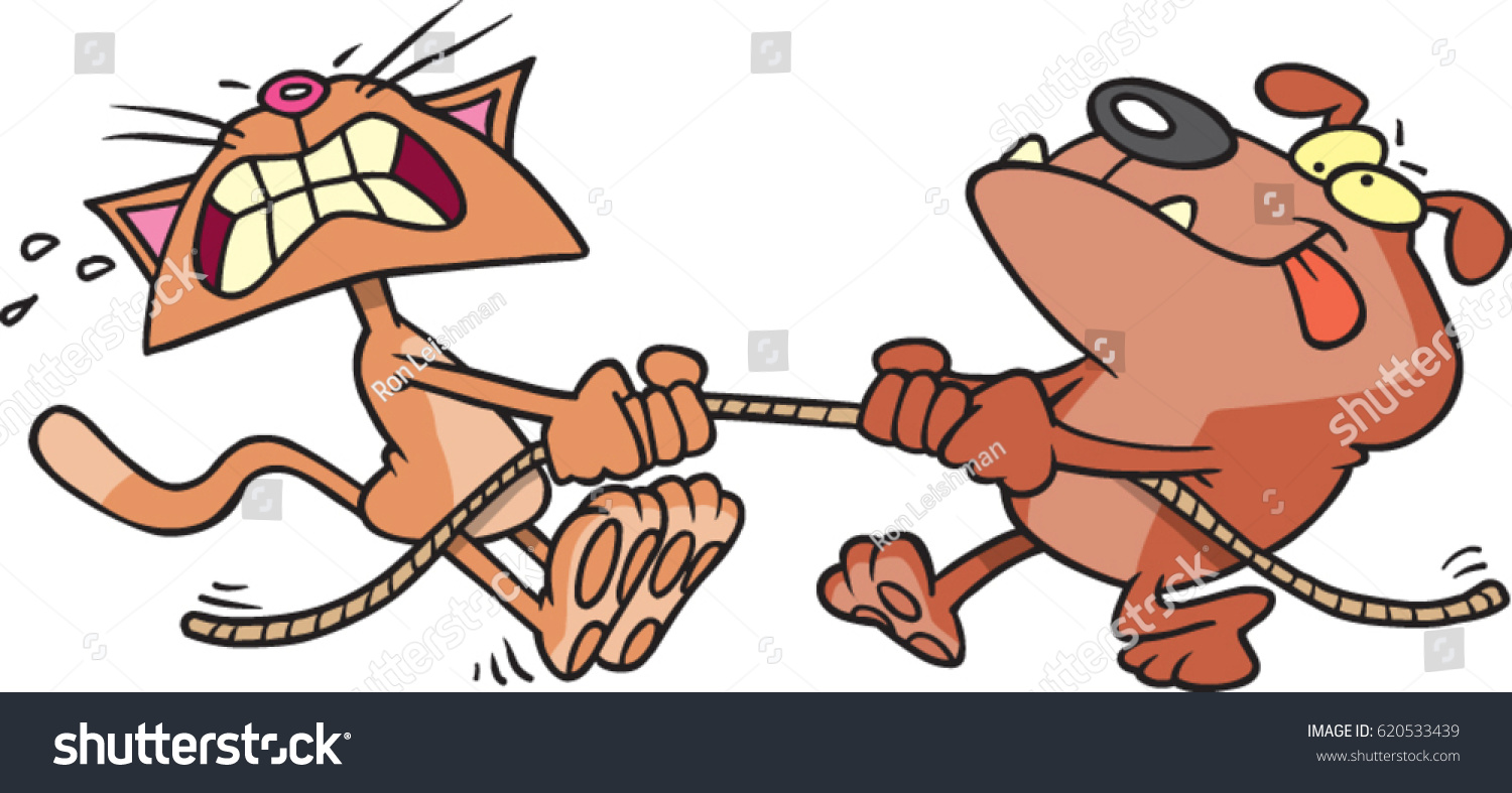 Dog Tug Of War Clipart.