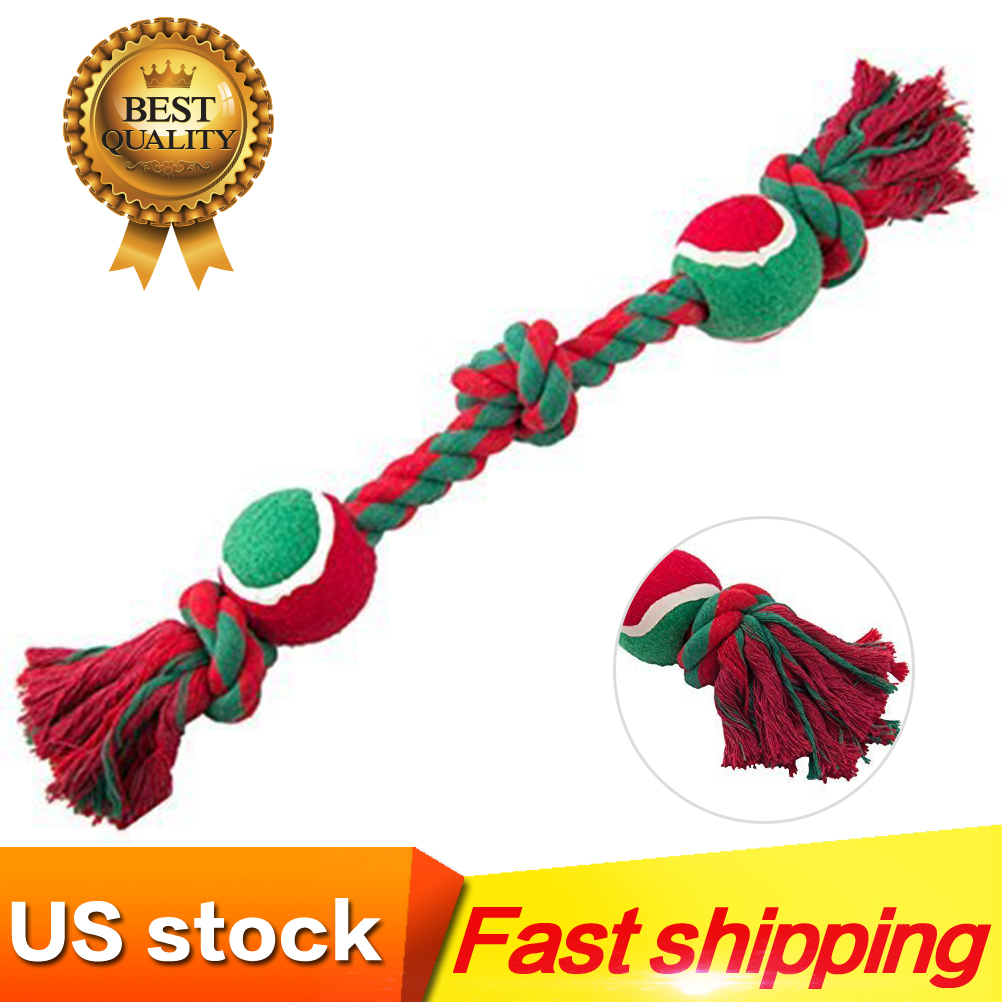 Details about Dog Rope Toys Christmas Chewers Puppy Chew Teething Treats  Tug Toy Ball.