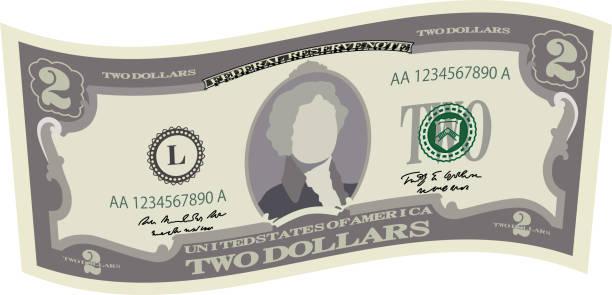 Best Two Dollar Bill Illustrations, Royalty.