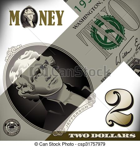 Miscellaneous 2 dollar bill element.