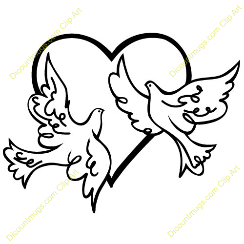 2 doves clipart » Clipart Station.