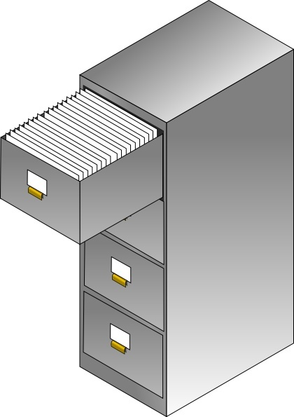 Filing Cabinet clip art Free vector in Open office drawing.