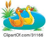 2 ducks clipart #4