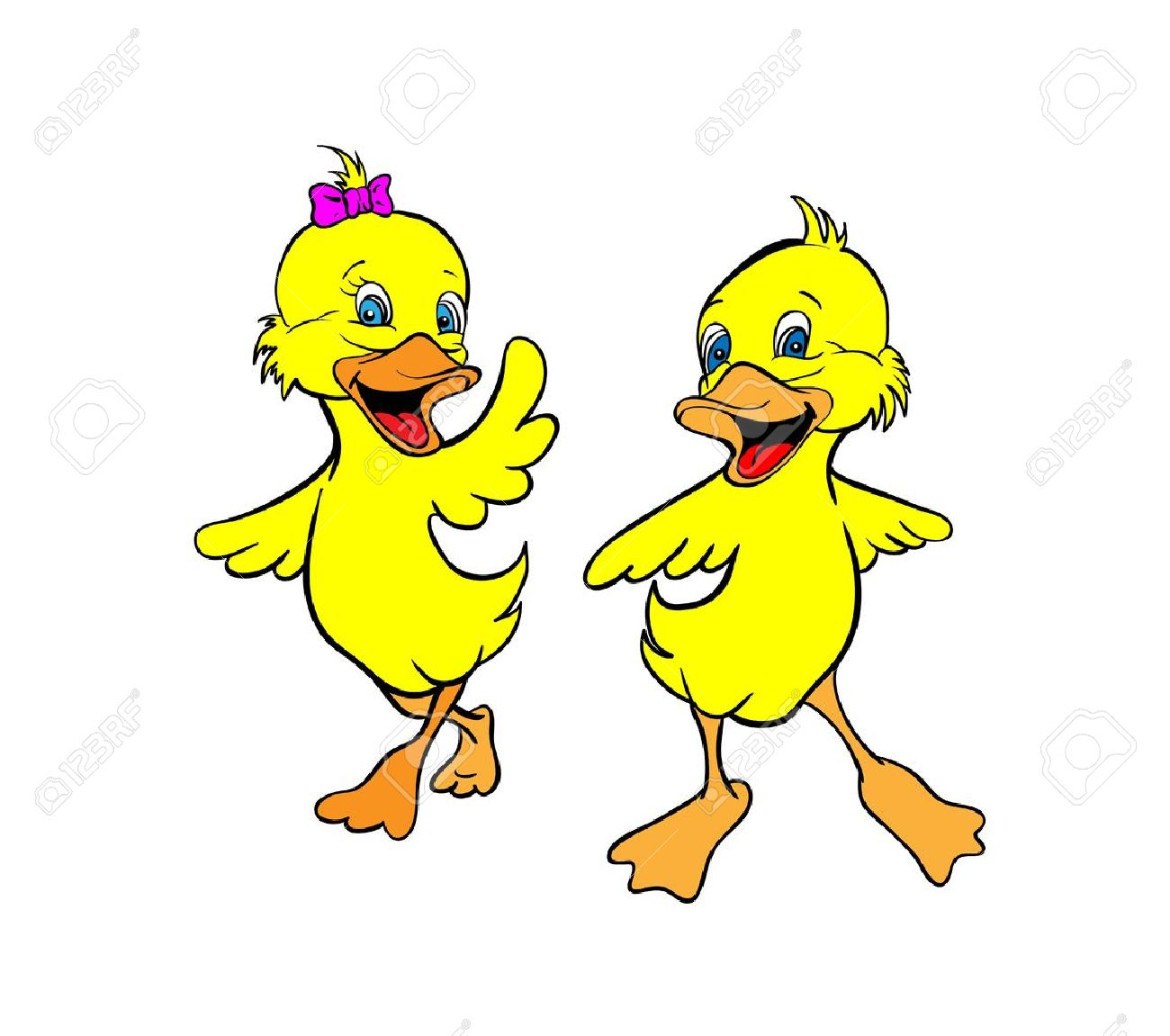 Showing post & media for Two ducks playing together cartoon.