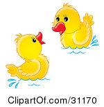2 ducks clipart #2