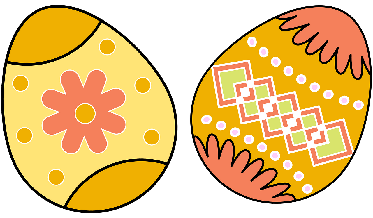 Easter eggs clipart. Free download..