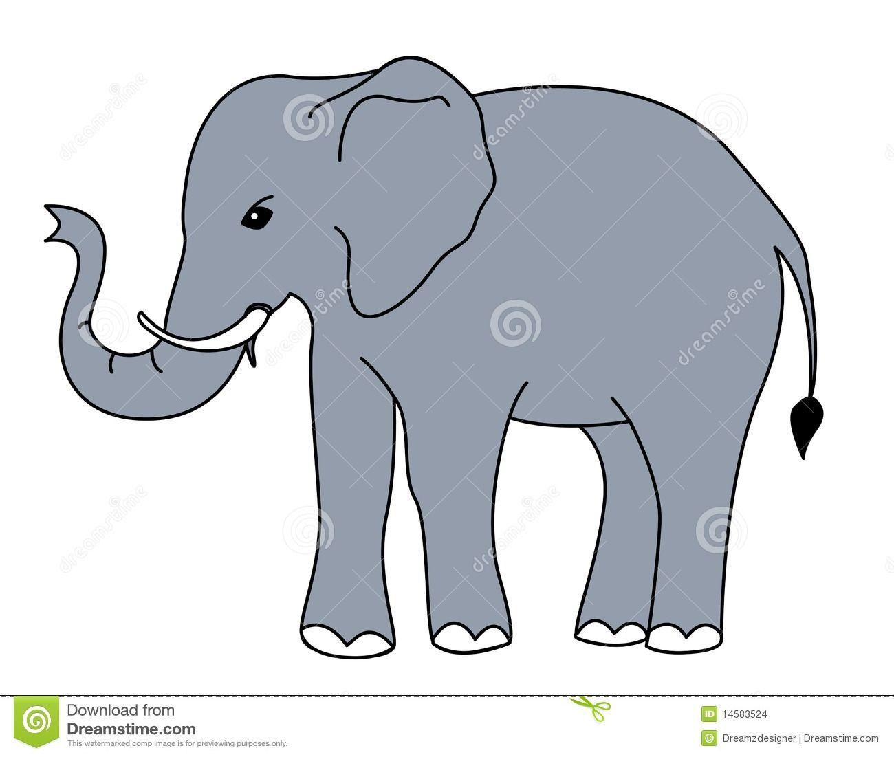 Vector clipart elephant #2.