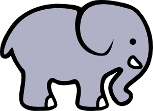 Cartoon Elephant 2 Clip Art at Clker.com.