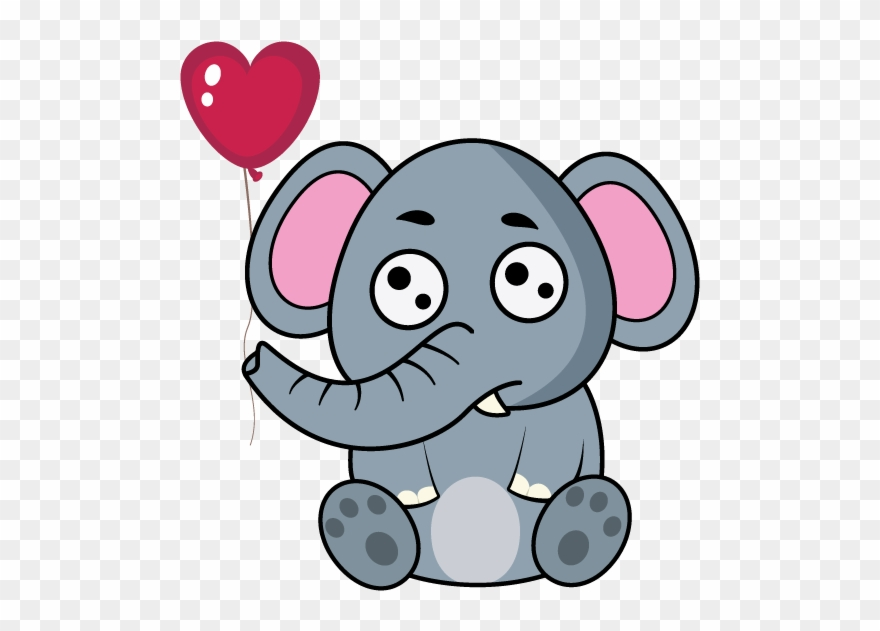 Elephants clipart love, Elephants love Transparent FREE for.