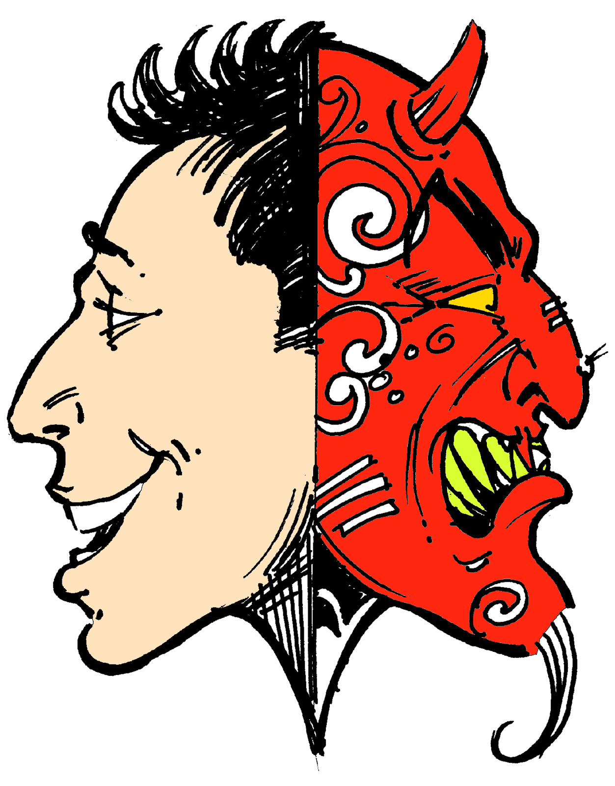 Two Faced Clipart.