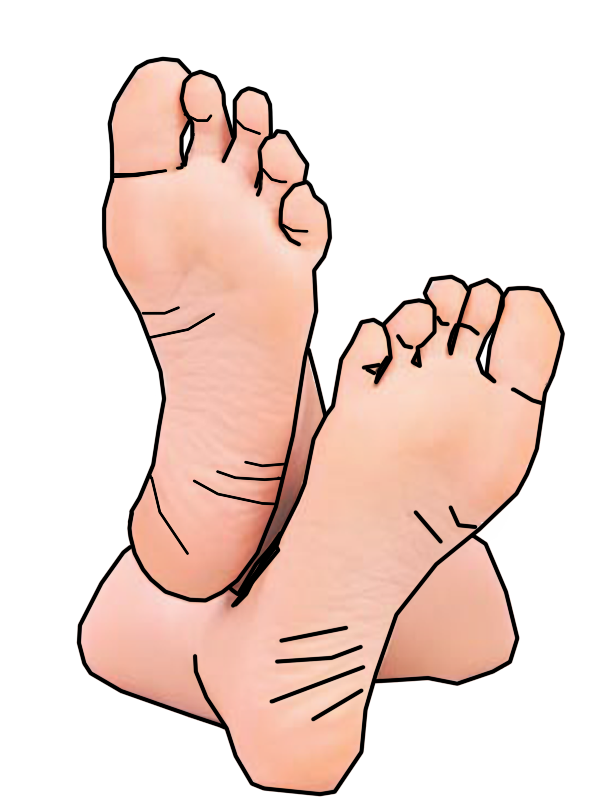 Foot clipart 2.