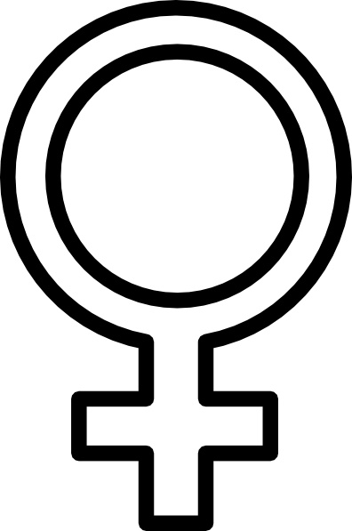 Female Symbol clip art Free vector in Open office drawing.