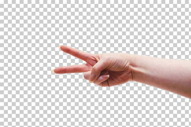 Gesture Finger Hand, Two fingers PNG clipart.