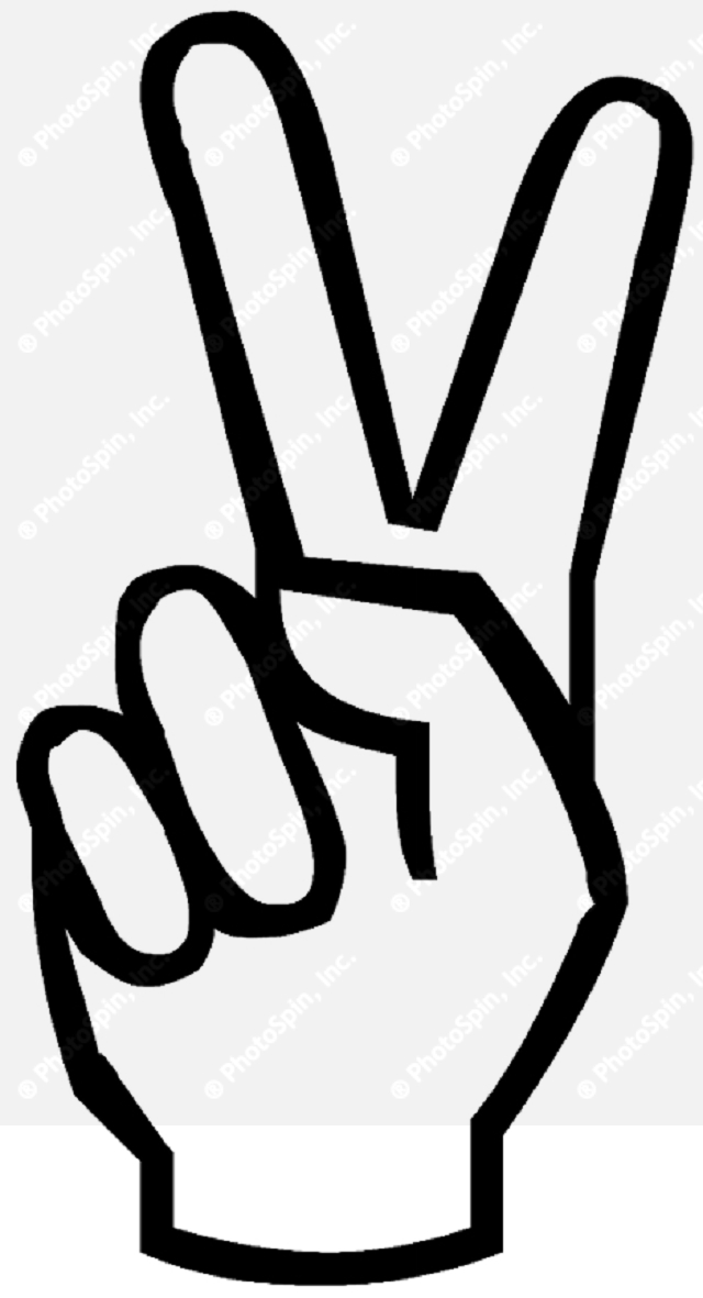 Two Fingers Up Clipart.