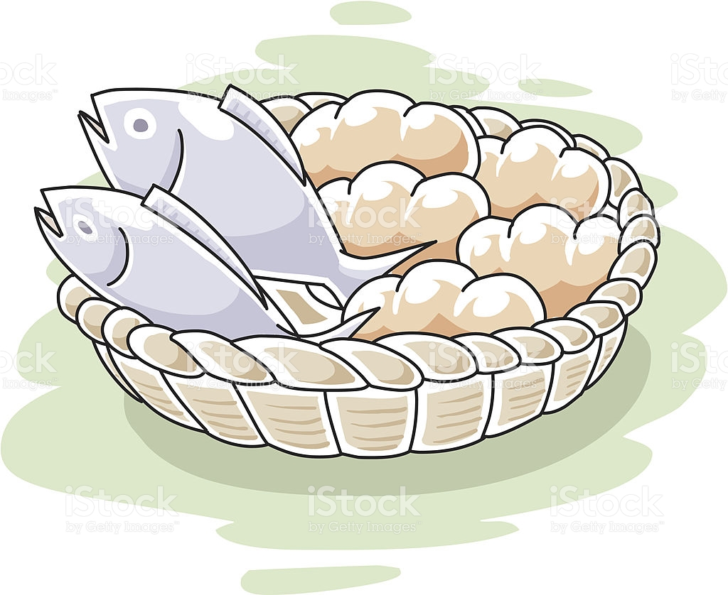 Loaves Of Bread And Fish Clipart.