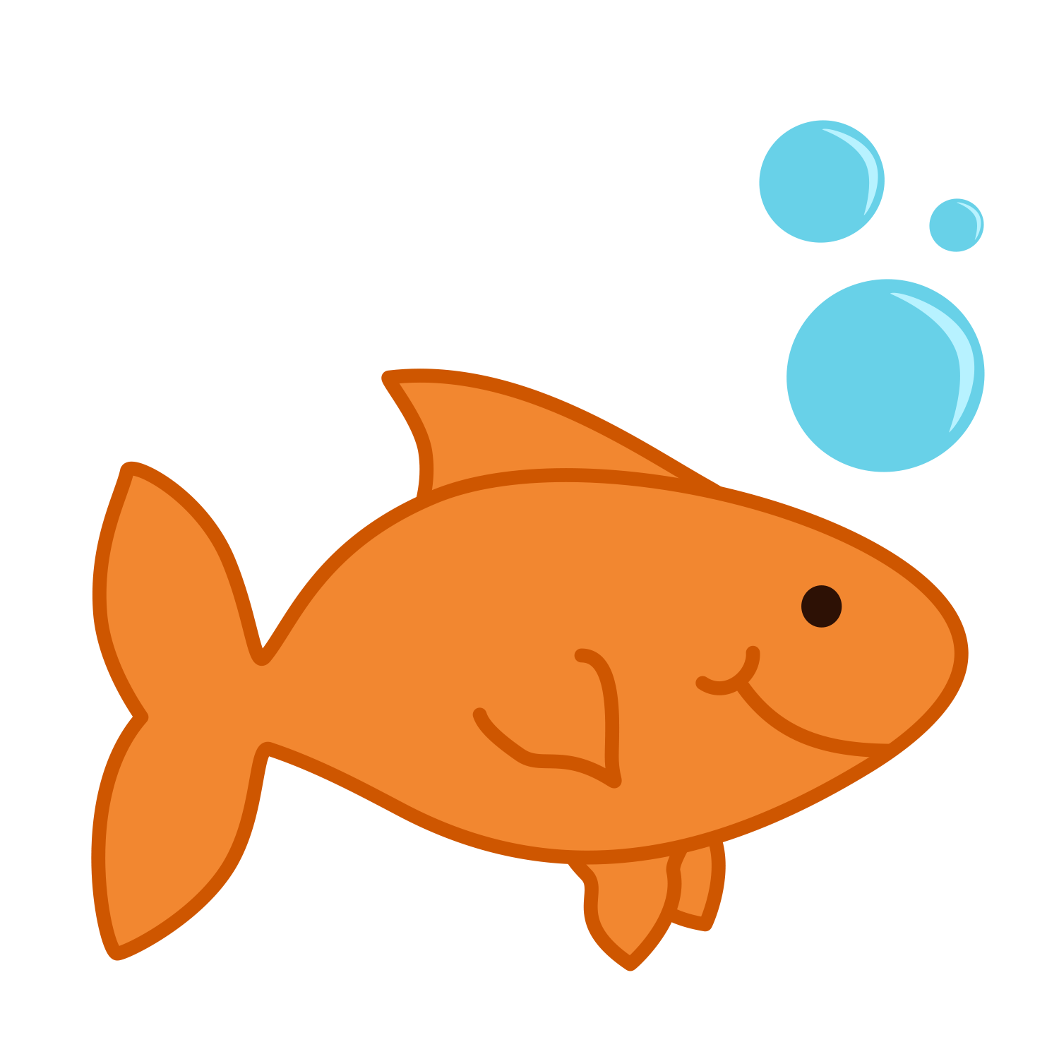 Gold fish clipart 2 » Clipart Station.