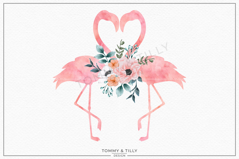 Love Flamingos No.2 Watercolour.