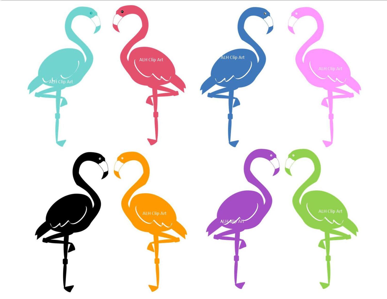 Flamingo clip art 2.