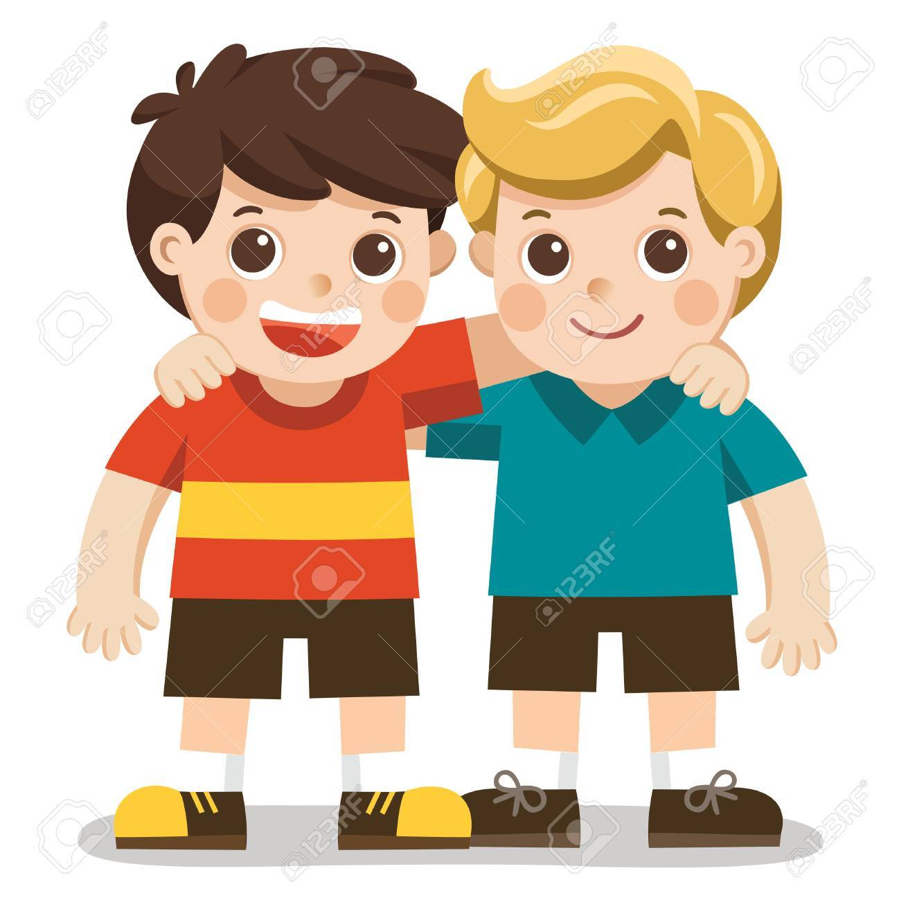 Best friends clipart boys 2 » Clipart Portal.