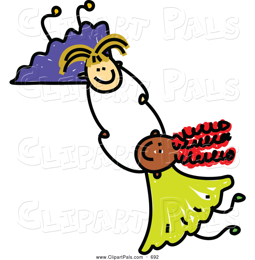 Two Friends Holding Hands Clipart.