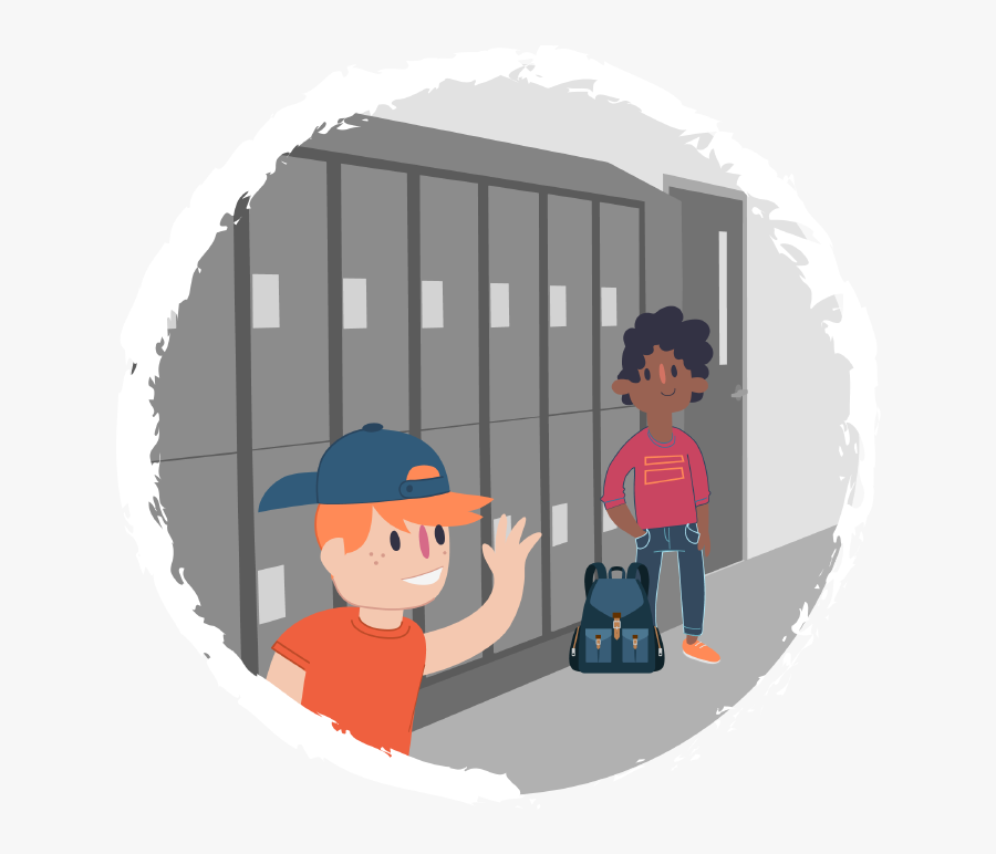 Transparent Kid With Backpack Clipart.