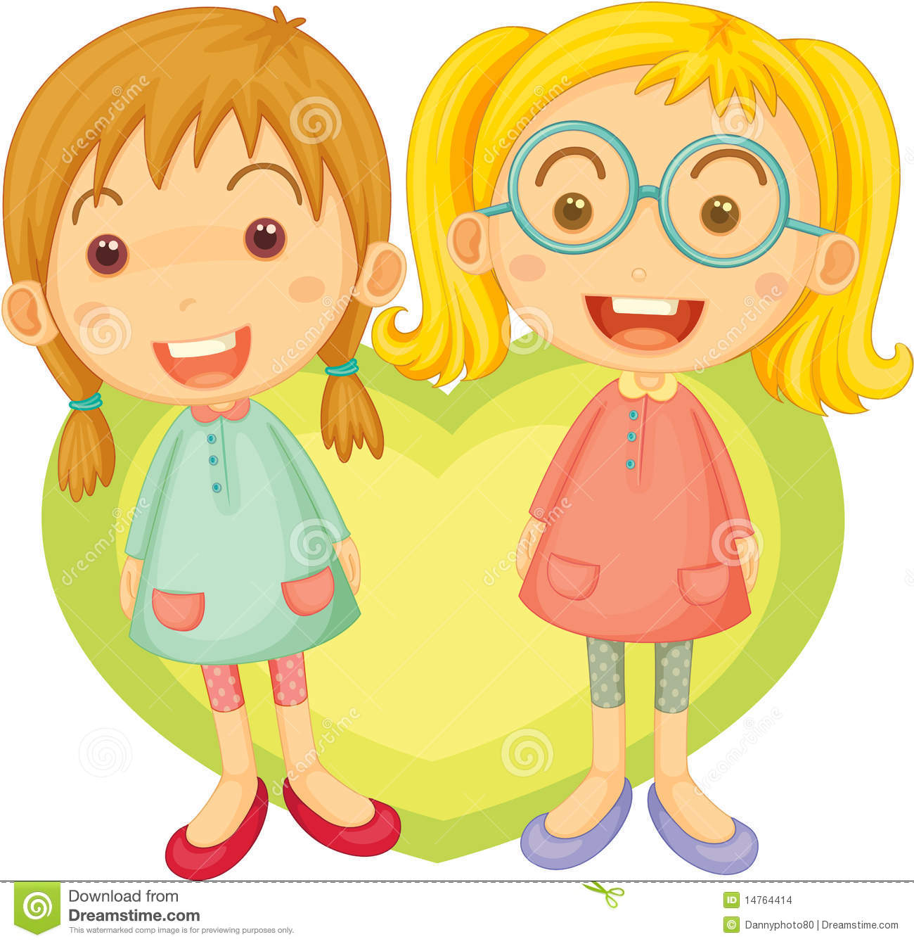 2 Girls Clipart images.
