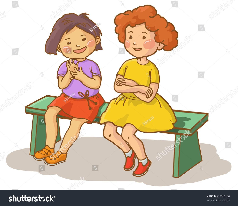 2 girls talking clipart 4 » Clipart Portal.