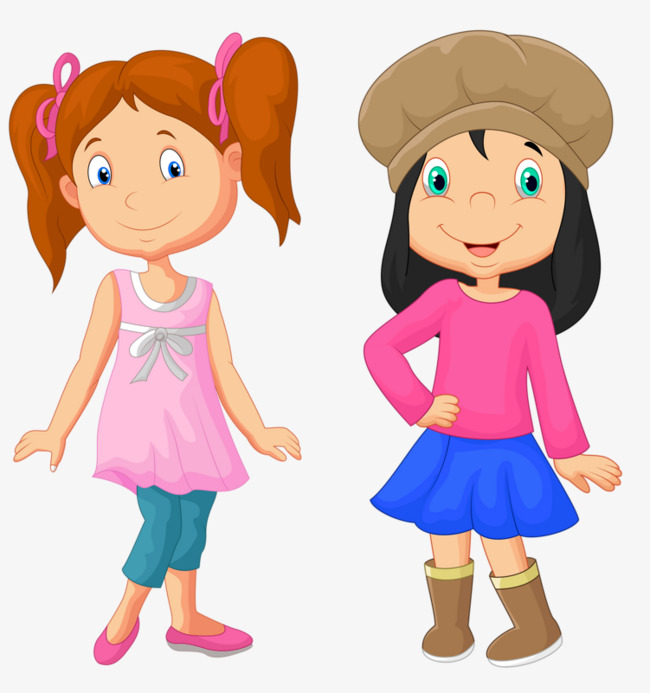 Two girls clipart 9 » Clipart Station.