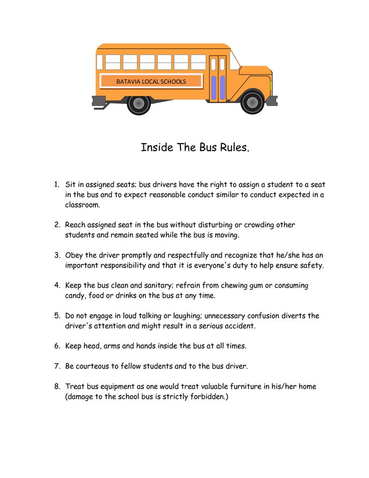 17 Best images about School bus ideas & rules on Pinterest.
