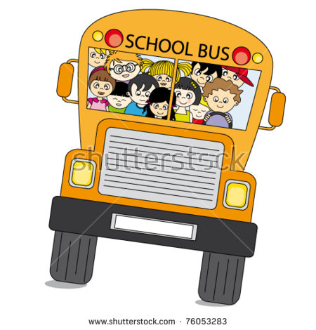 School Bus Kids Stock Images, Royalty.