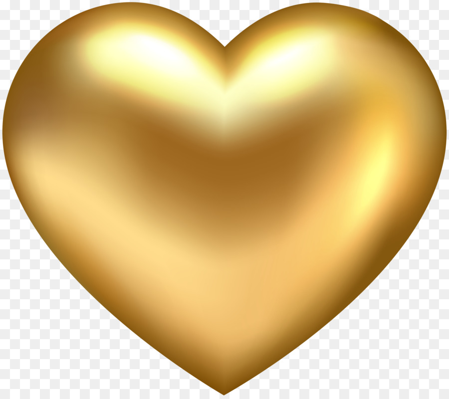 Gold Heart Clip art.