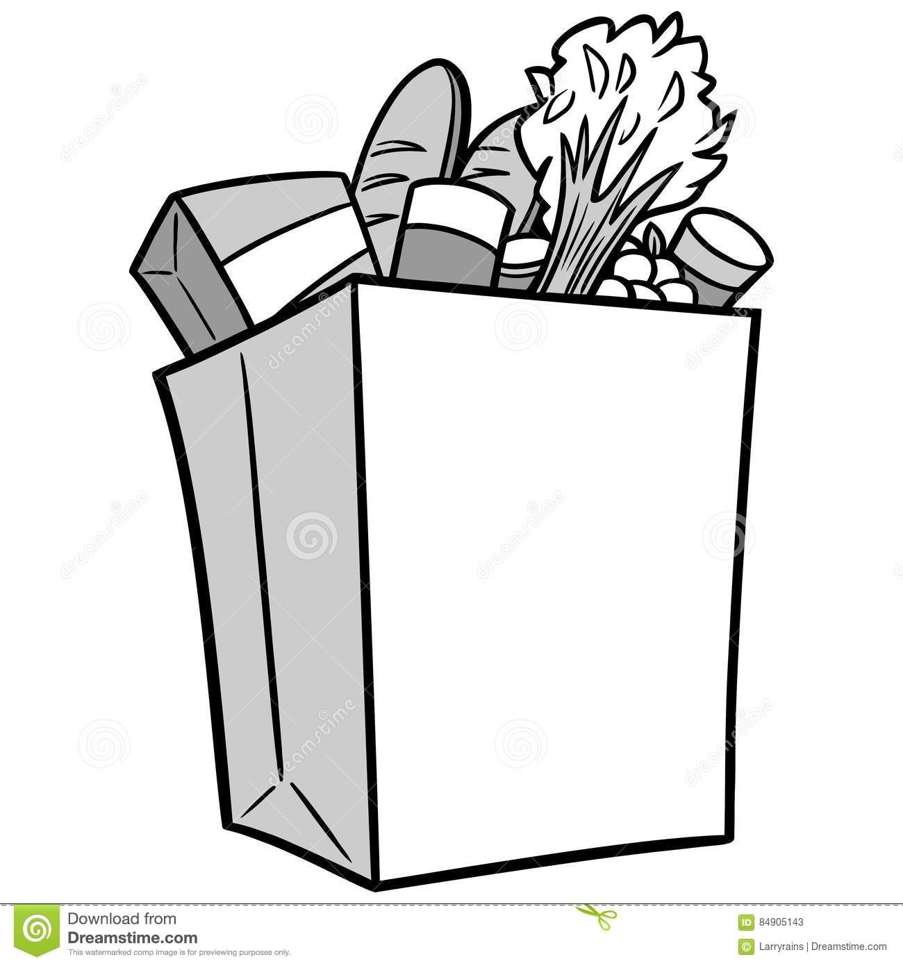 158 Grocery Bag free clipart.