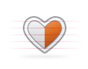 Origami Heart Half.