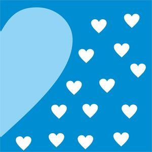 Buy Astha\'s Half Heart In Blue 2 Design For Mobile Covers.