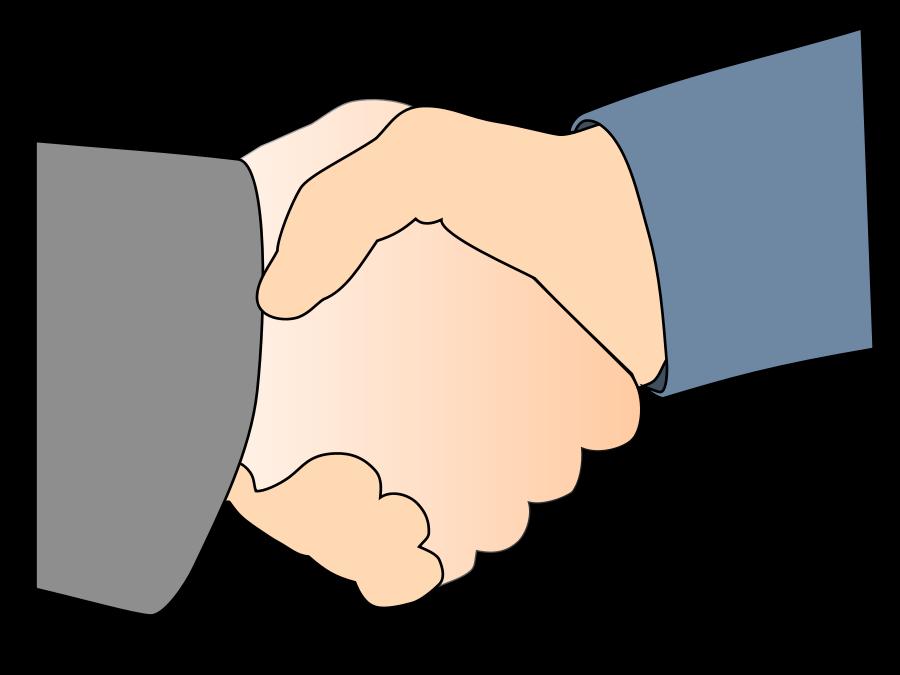 Handshake shaking hands hand shake clip art clipart image 4.