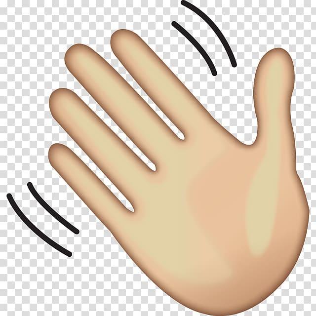 Hand illustration, Wave Emoji Hand.