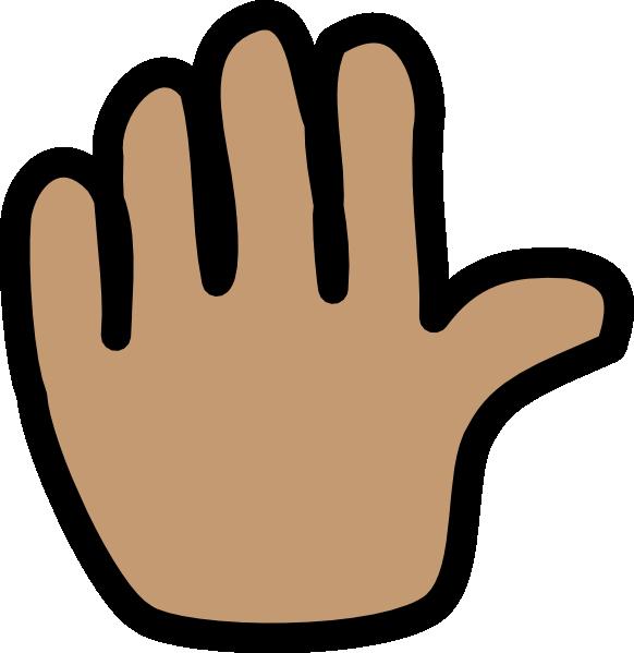 Stretch Clip Art Hand Waving Bye Clipart.