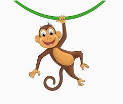 Image result for cartoon monkey hanging from tree.