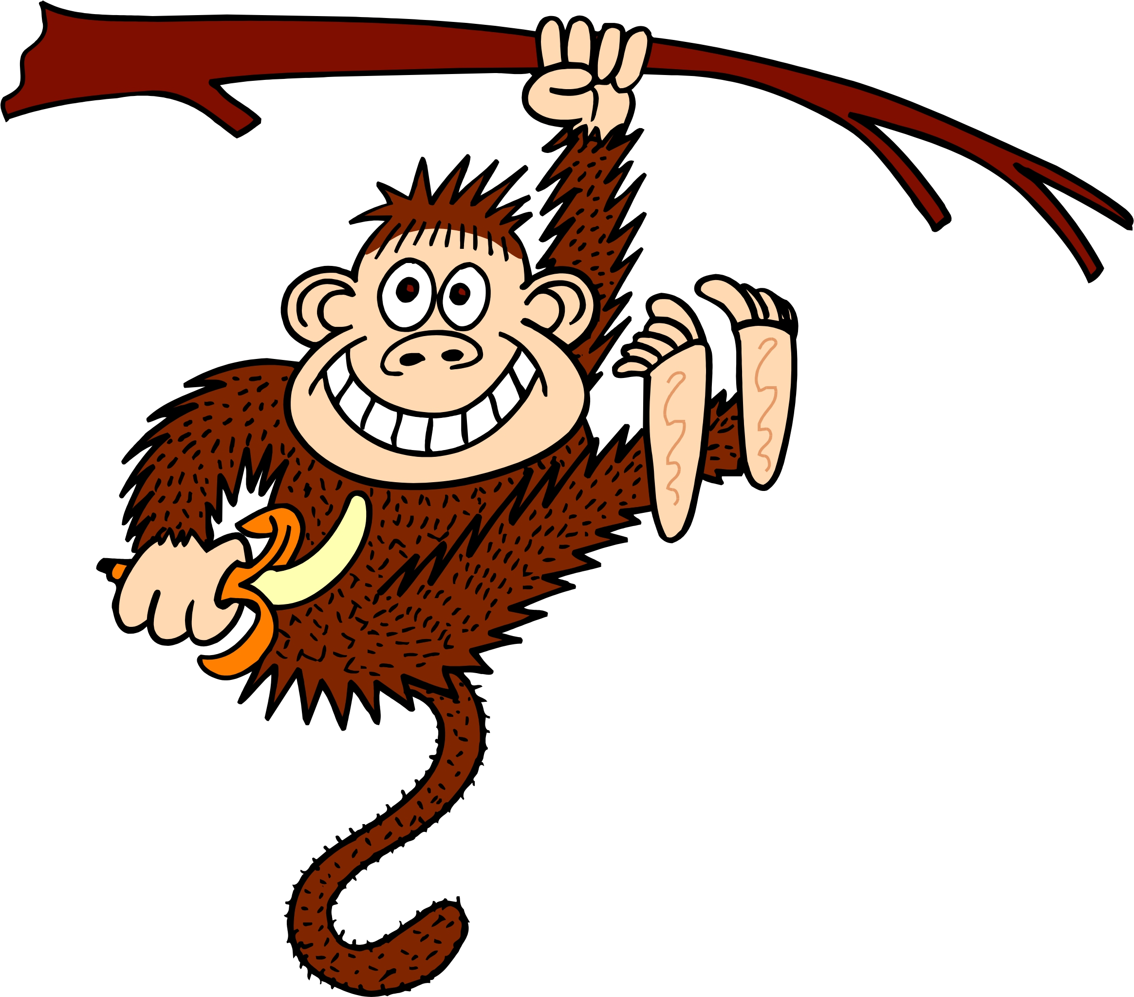 Free Monkey Hanging From A Tree, Download Free Clip Art.