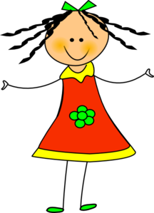 Happy girl clipart free clipart images 2.
