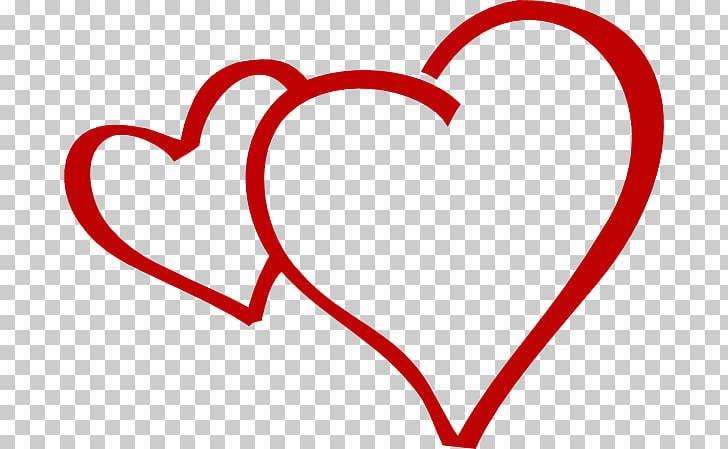 Drawing , 2 hearts together PNG clipart.