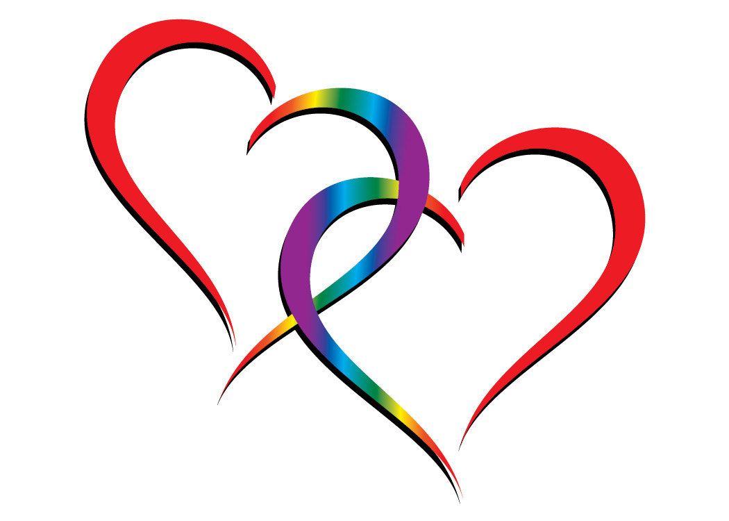 Two Hearts One Love Clipart.