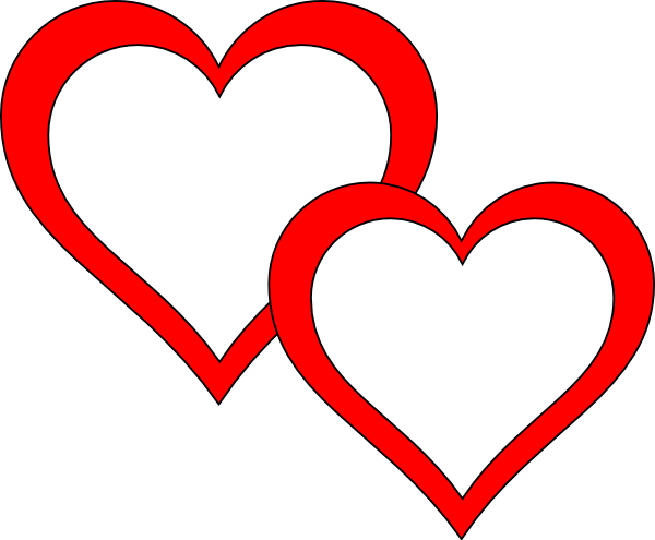 2 Hearts Clip Art Clipart Clipart.