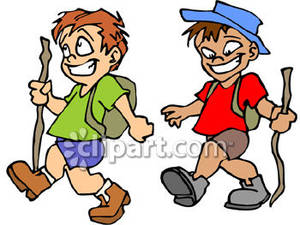 2 hikers clipart Transparent pictures on F.