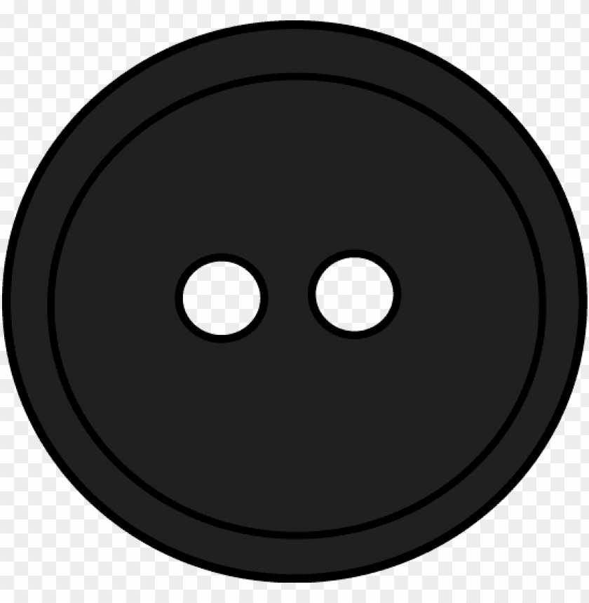 Download black round button with 2 hole clipart png photo.