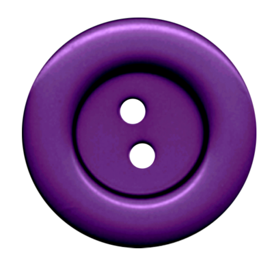 Purple Cloth Button With 2 Hole PNG Image.
