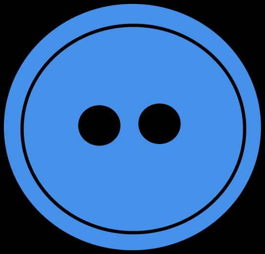 Blue Button Clipart.