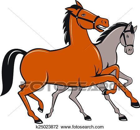 Two horses clipart 2 » Clipart Portal.